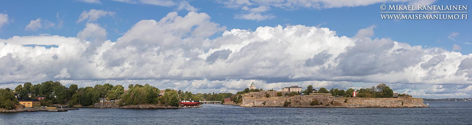 Suomenlinna panoraama Vallisaaresta, Helsinki (HP198)