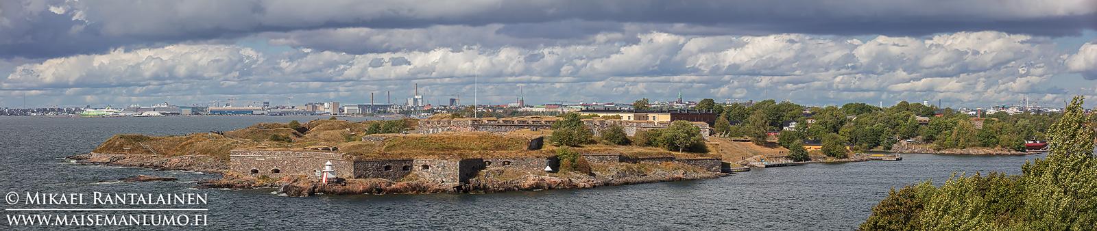 Suomenlinna panoraama Vallisaaresta, Helsinki (HP199)
