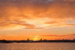 Auringonlasku Suomenlinnasta, Helsinki (HP131)