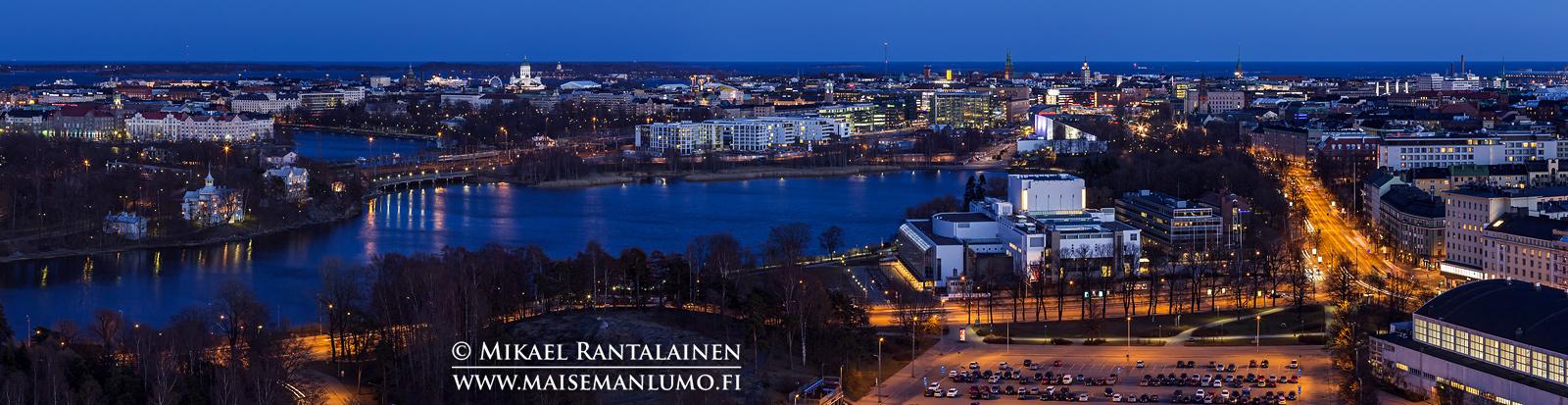 Panoraama Olympiastadionin tornista, Helsinki (HP130)