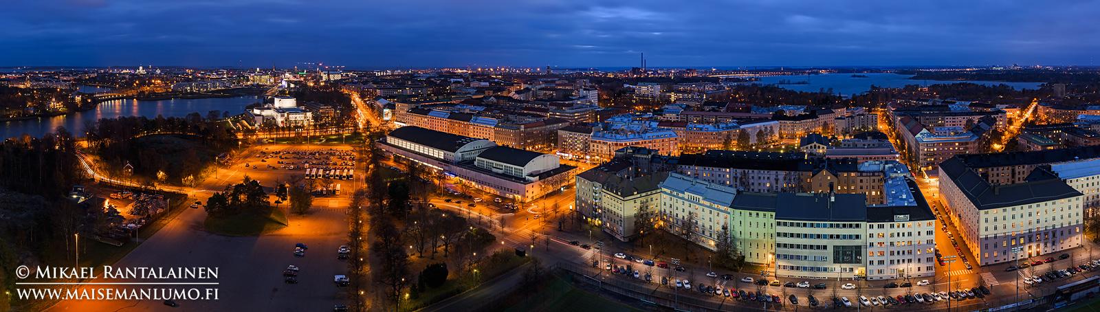Panoraama Olympiastadionin tornista, Helsinki (HP148)