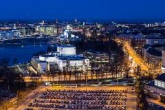 Panoraama Olympiastadionin tornista, Helsinki (HP143)