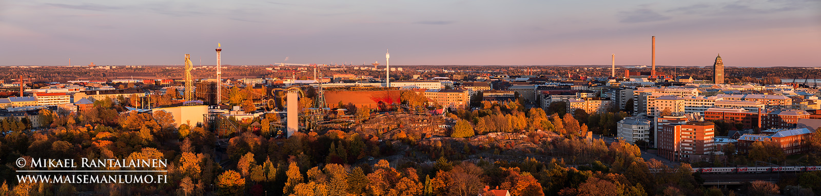 Linnanmäki Olympiastadionin tornista, Helsinki (HP119)