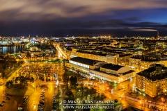 Panoraama Olympiastadionin tornista, Helsinki (HP124)