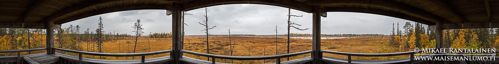360° panoraama, Luiron suo, Pelkosenniemi (PK114)