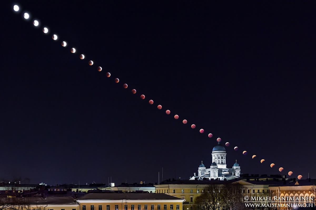 Täydellinen kuunpimennys 2019 ja Tuomiokirkko, Helsinki