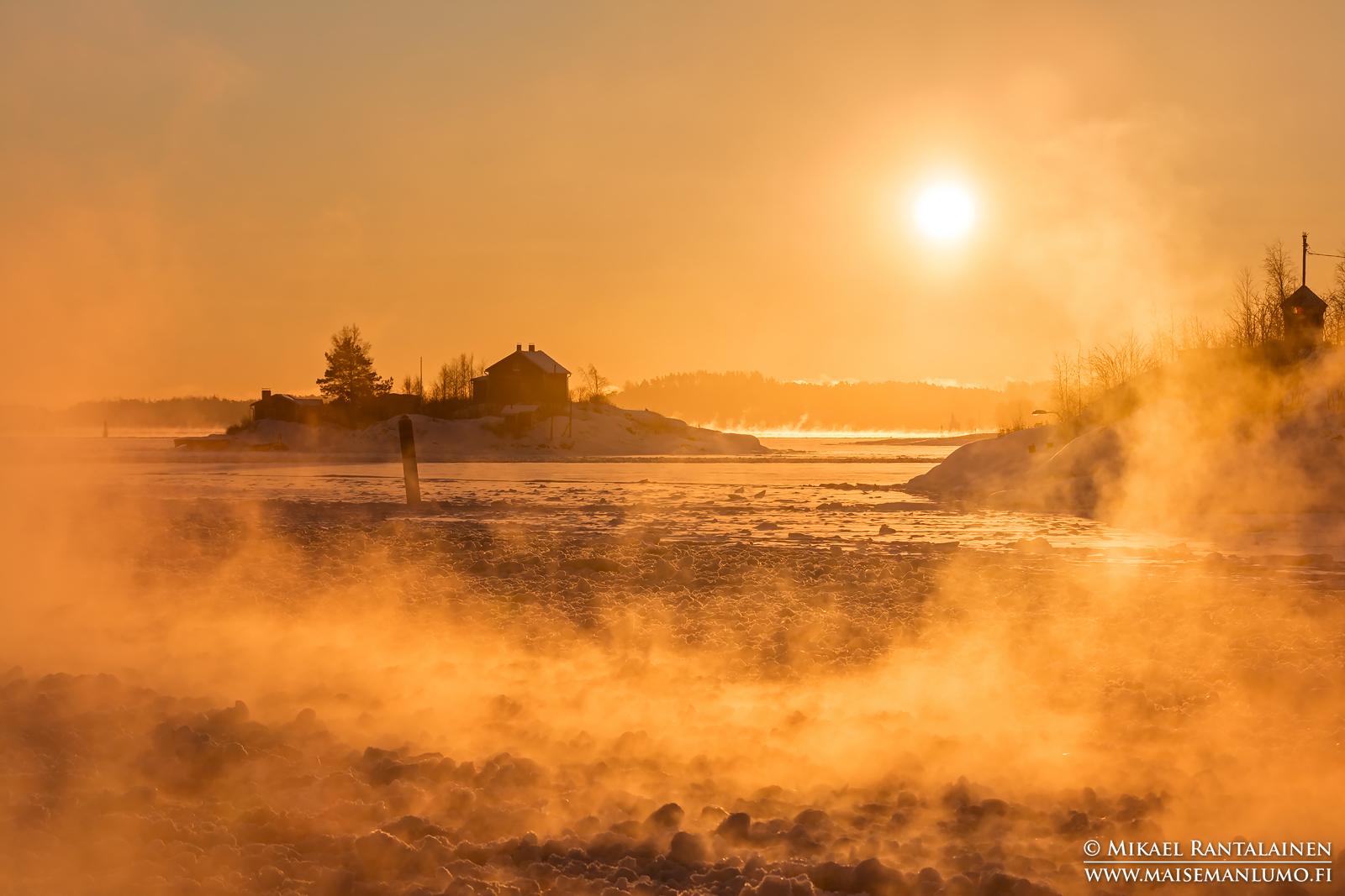 Merisavua Suomenlinnan lautalta, Helsinki