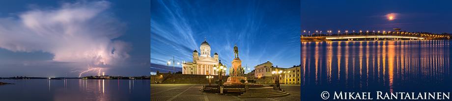 Maiseman lumoa Helsingissä -näyttelyn kuvia (33x50 cm vedoksia)