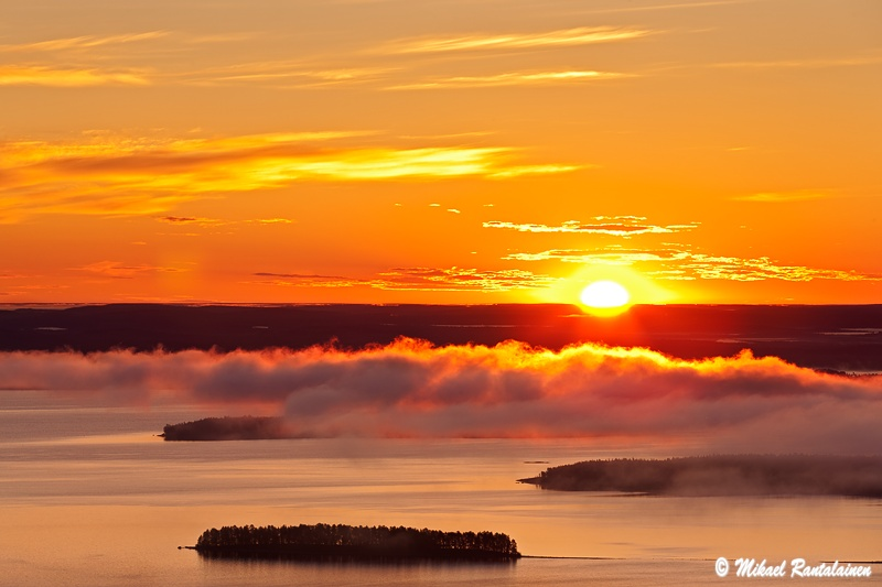 Auringonnousu Pielisen yllä, Ukko-Koli, Lieksa