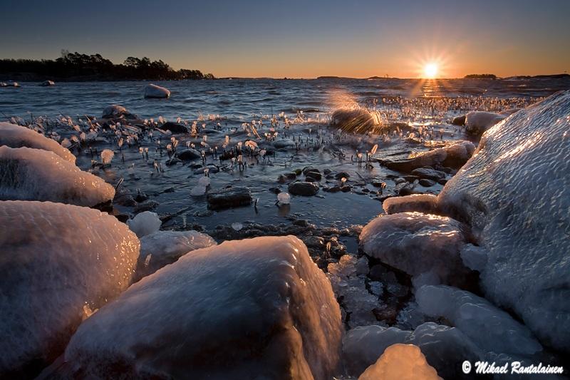 Auringonousu, Kallahdenniemi, Helsinki