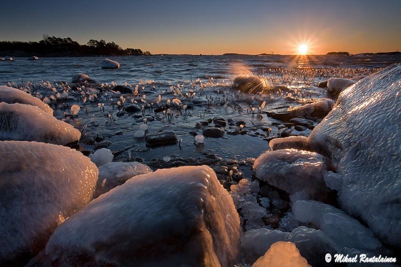 Auringonnousu, Kallahdenniemi, Helsinki