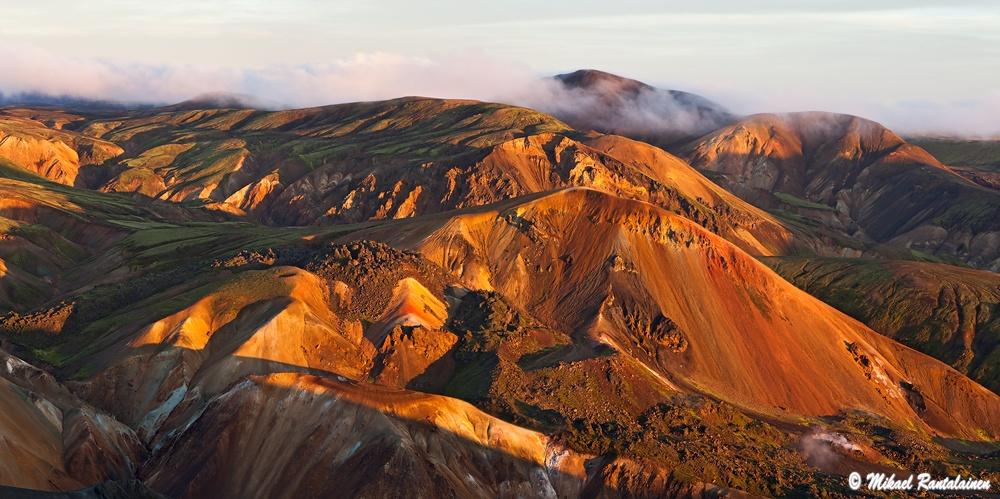 Linkki panoraamakuvagalleriaan / Brennisteinsalda Bláhnúkur:lta, Islanti