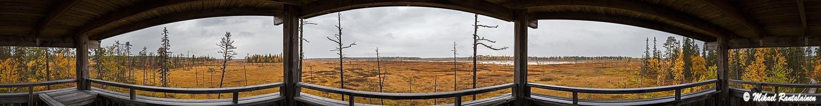 360° panoraama, Luiron suo, Pelkosenniemi