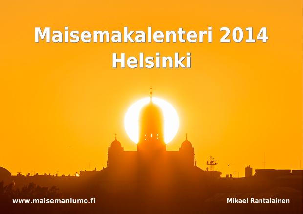 Maisemakalenteri Helsingistä - Kansikuva