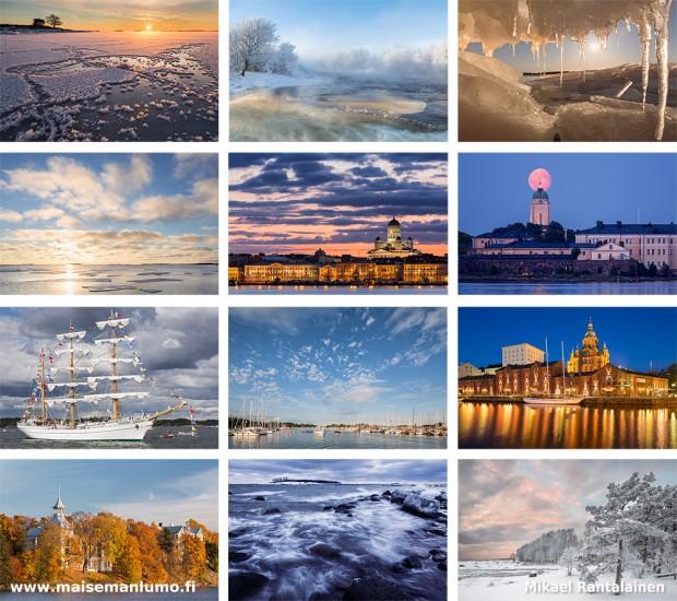Maisemakalenteri Helsingistä - Kuukaudet