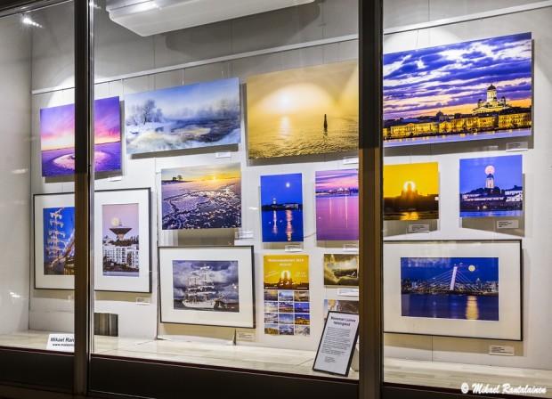 Mikael Rantalaisen Helsinki näyttely Kaken Kehyksen ikkunassa marraskuussa 2013
