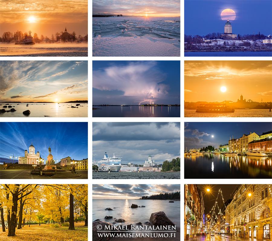 Helsinki 2015 Maisemakalenteri - Kuukaudet