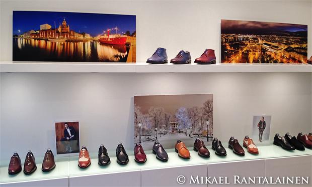 Mikael Rantalaisen näyttely The Left Shoe Company:n myymälässä