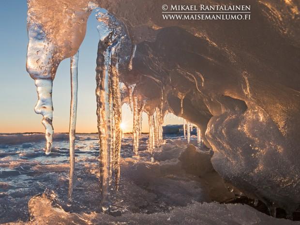 Auringonlasku Lauttasaaressa (Maaliskuu 2013)