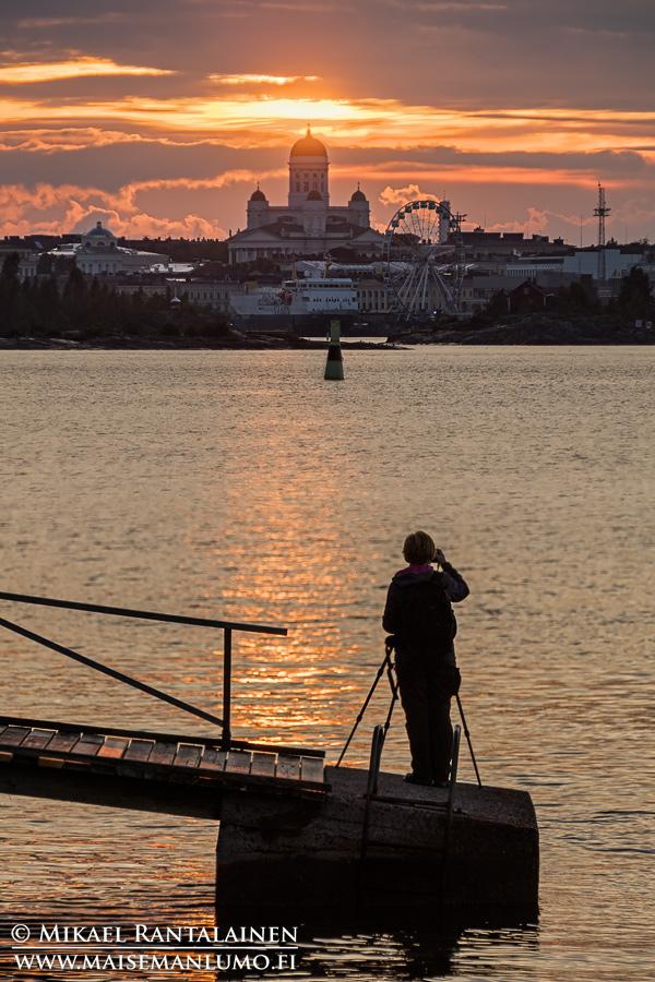 Auringonlasku Suomenlinnasta, Helsinki