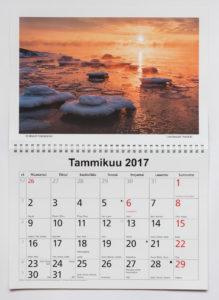 Helsinki Seinäkalenteri 2017
