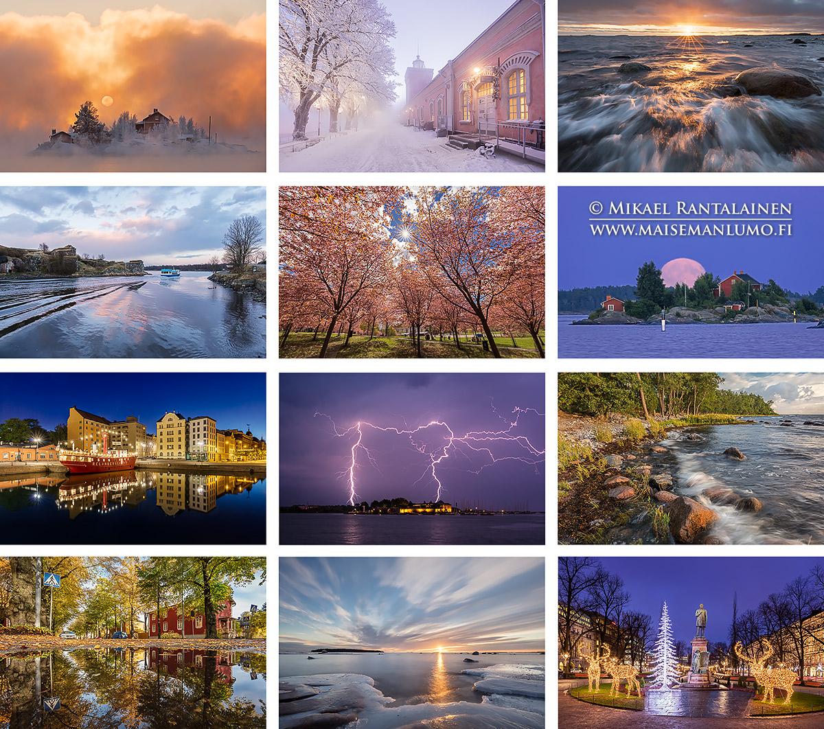 Helsinki seinäkalenteri 2018
