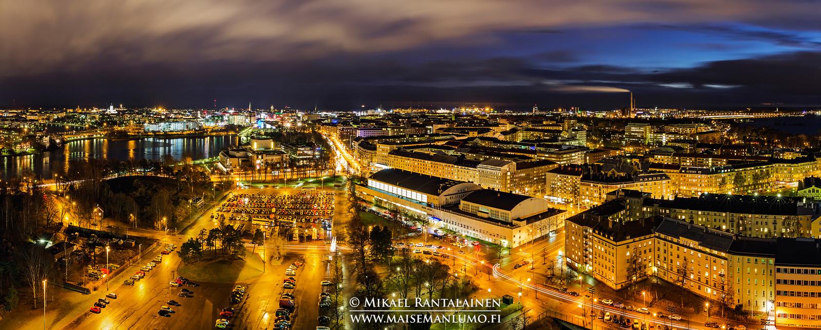 Panoraama Olympiastadionin tornista, Helsinki