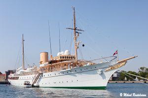 Tanskan hovin kuninkaallinen huvipursi HMS Dannebrog, Kööpenhamina