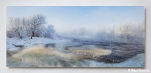 -20°C Ruutinkoskella, Akryylivalokuva 40x90 cm, 550 euroa