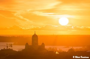 Auringonnousu Olympiastadionin tornista, Helsinki