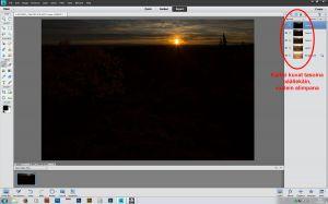 Kaikki kuvat ovat nyt yhdessä kuvassa päällekkäisinä tasoina (layers)