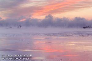 Merisavua auringonnousun aikaan, Kallahdenniemi, Helsinki (HT209)